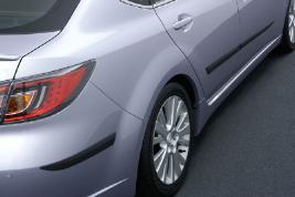Фото Комплект молдингов дверей и заднего бампера, черные GS1DV3200