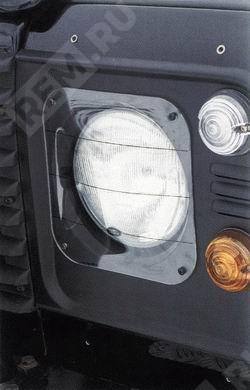 Фото Защита передних фар прозачная пластиковая STC7561