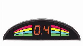 "Парктроник Aviline 4 датчика, индикатор ""шкала"" на торпедо/потолок 830077062"
