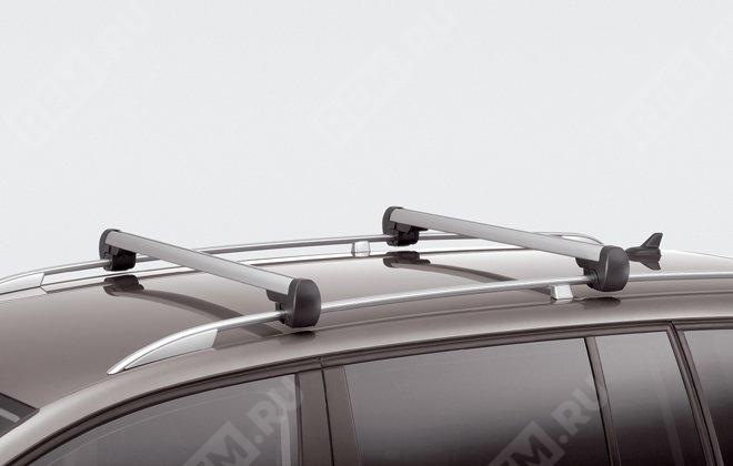 Багажные поперечины на крышу с рейлингами, серебристые 1T0071151666