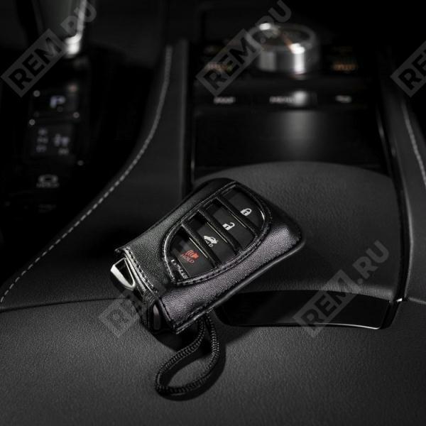 Фото Чехлы для ключей черные, с черным и серым шнурами PT42000184L1