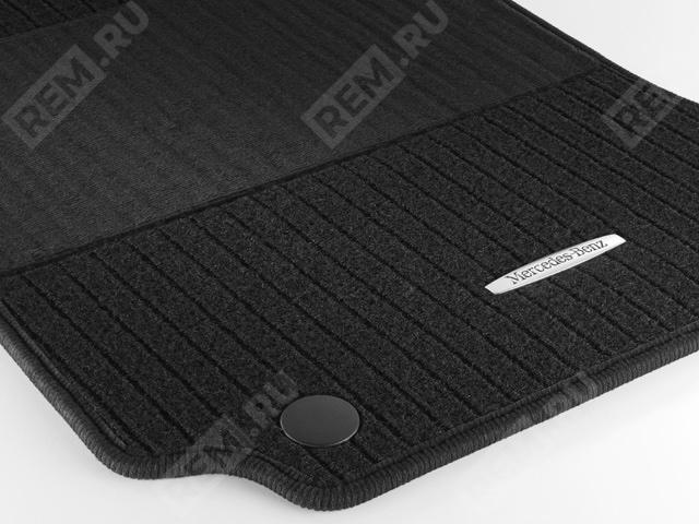Комплект текстильных ковров салона, репсовые, черные A20468049489G32