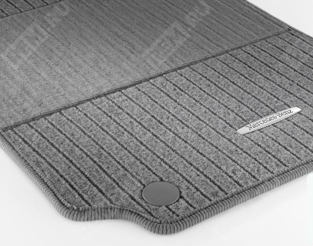 Комплект текстильных ковров салона, репсовые, серые A20468049487L85