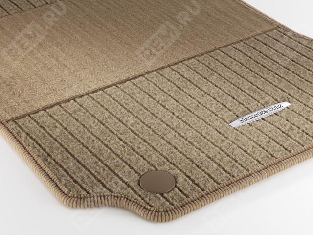 Комплект текстильных ковров салона, репсовые, бежевые A20468049488P93