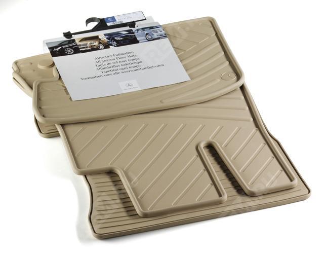 Комплект резиновых ковров салона, бежевые B6668862328