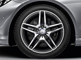 """Фото Диск литой 18"""" AMG, 5 двойных спиц, серый титан, полированный, передний A20740100007X21"""