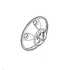 """Колпак стального диска 15"""" (маленький) 5416J6"""