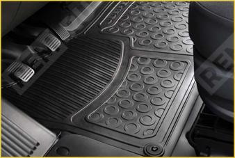 966329  ковер салона резиновый передний, цельный (фото 1)