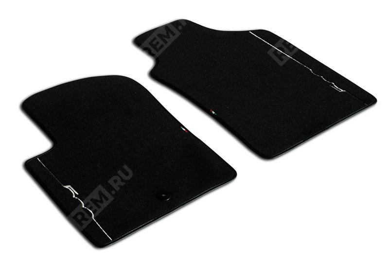 Комплект текстильных ковров салона, черные с черной каймой (до 2016 м/г) 50901696