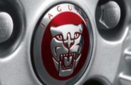 Колпачек литого диска с логотипом Jaguar, красный C2D47107