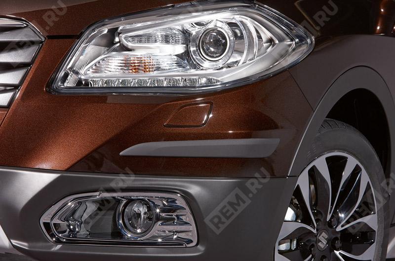 Фото Комплект молдингов переднего и заднего бампера, черные 990E061M06000