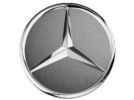 Фото Колпачок литого диска с хромированной звездой, серый гималаи A22040001257756