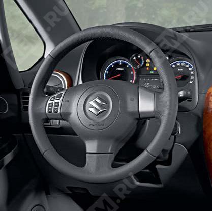 Руль кожаный (с функцией управления магнитолой) 990E063J31000