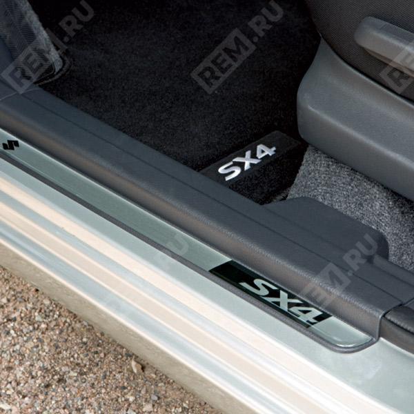Накладки на пороги, серебристые 990E079J29000
