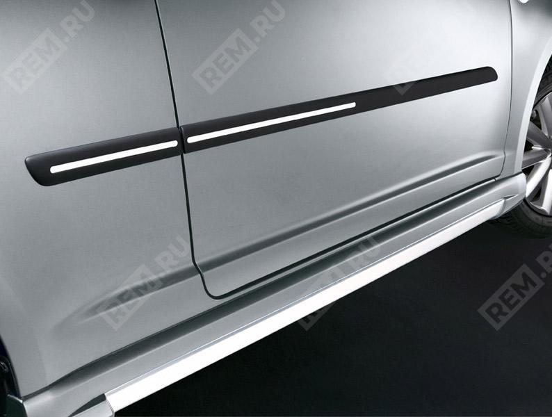 Молдинги боковые, черные с серебристыми вставками 990E062J84000
