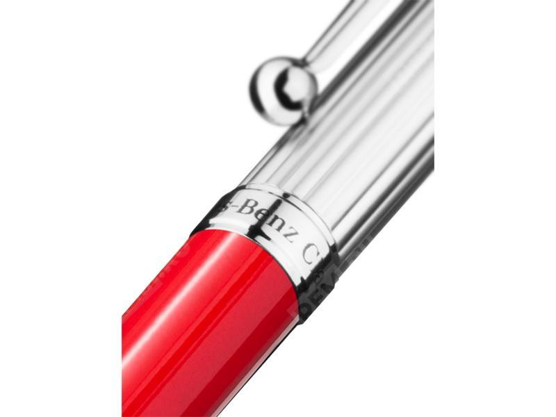Шариковая ручка, красный, металл B66043351