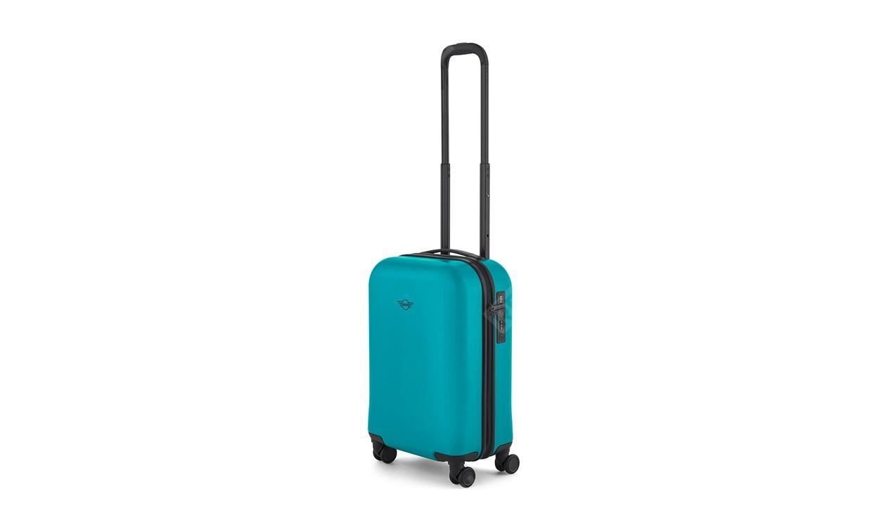 Фото Компактный чемодан MINI на колесиках, бирюзовый 80222445677