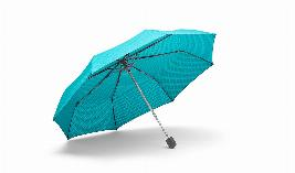 Фото Складной зонт MINI, бирюзовый 80232445720