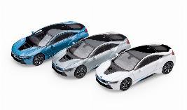 Фото Коробка с моделями разных цветов, BMWi8(i12), 1:64 80422336843