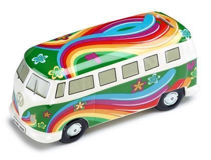 Фото Копилка Flower power bulli, зелёный цвет, коллекция VW коммерческие автомобили 211087709DAUN