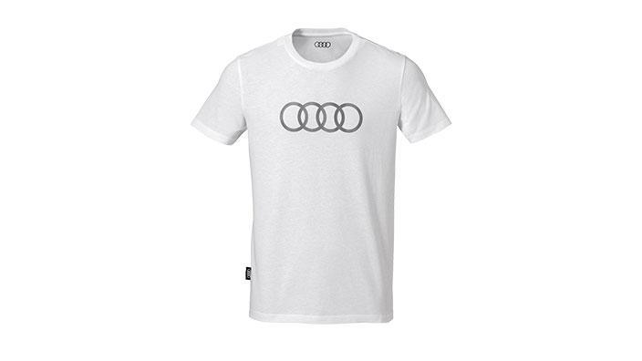 Фото Футболка с кольцами Audi, белая, размер L 3131701824