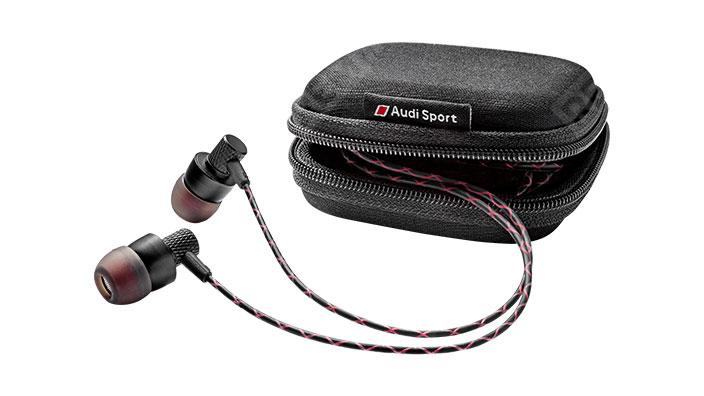 Фото Наушники петельки Audi Sport In Ear Plugs, Black/Red 3291700600