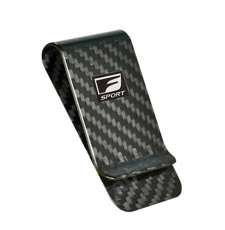 Фото Зажим для купюр Lexus F Sport, черный карбон LMFS00036L