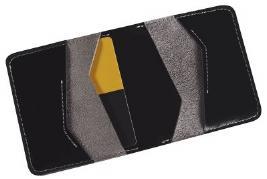 Серо-черный портмоне(внутри спилок) с логотипом Toyota в индивид TMSUV04WAL