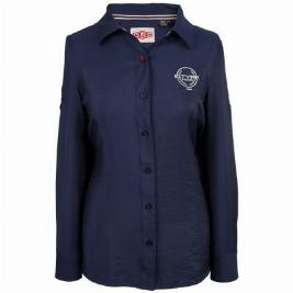 Фото Рубашка женская, цвет темно-синий, размер 10 JDSW701NVJ