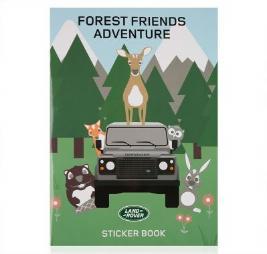 Фото Детская книжка с наклейками Land Rover Лесные друзья LDGF617NAA