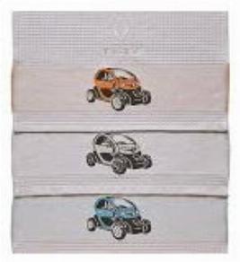 Фото Набор вафельных полотенец для пикника Renault Twizy 7711547834
