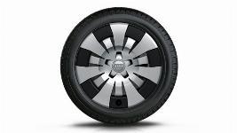 Фото Колесо в сборе R16 с колпаком серебристо-черным, Bridgestone Blizzak LM-32, левое 8V00736668Z8
