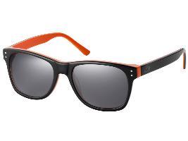 Фото Солнцезащитные очки унисекс, Passion, черный / оранжевый B67993098
