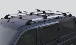 Фото Багажные поперечины на крышу аэродинамические, для авто с рейлингами 316300472305400