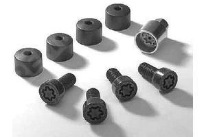 000071599  болты колесные секретные, черные (фото 1)