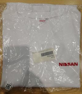 Фото Футболка белая Nissan, размер L 999SFFWH0L