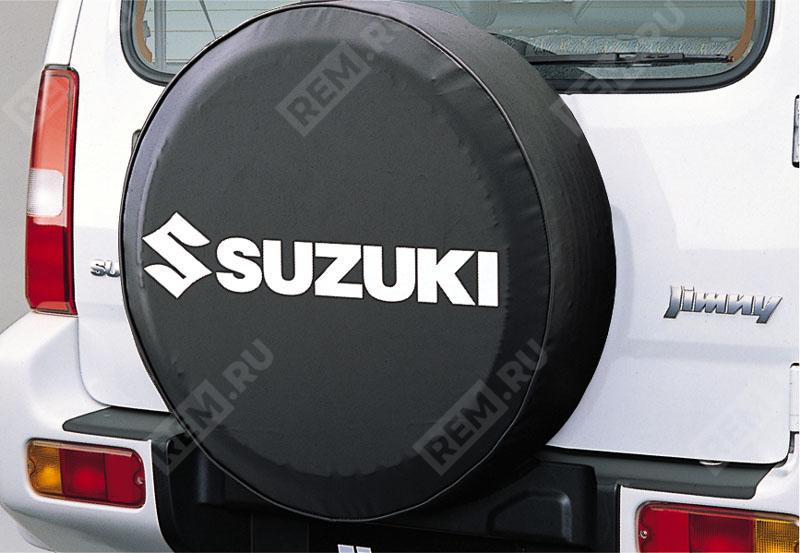Чехол запасного колеса мягкий, черный с белым логотипом 99000990YB699