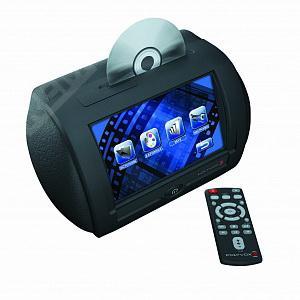 """Фото Подголовник с монитором 7"""" DVD/USB/SD/MS/MMC, черный POLY-D20A.FD"""