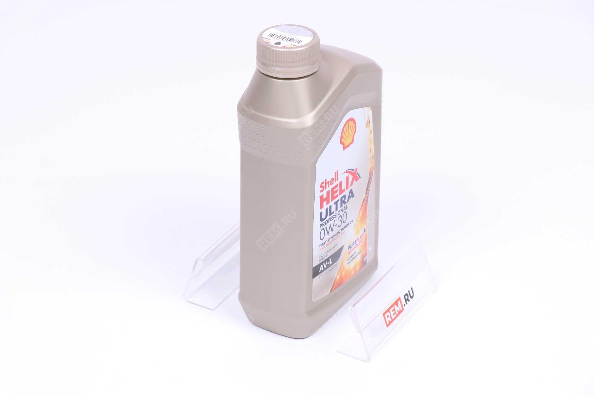 Фото Масло моторное Shell Helix Ultra Professional  AV-L 0W-30, 1Л 550046401