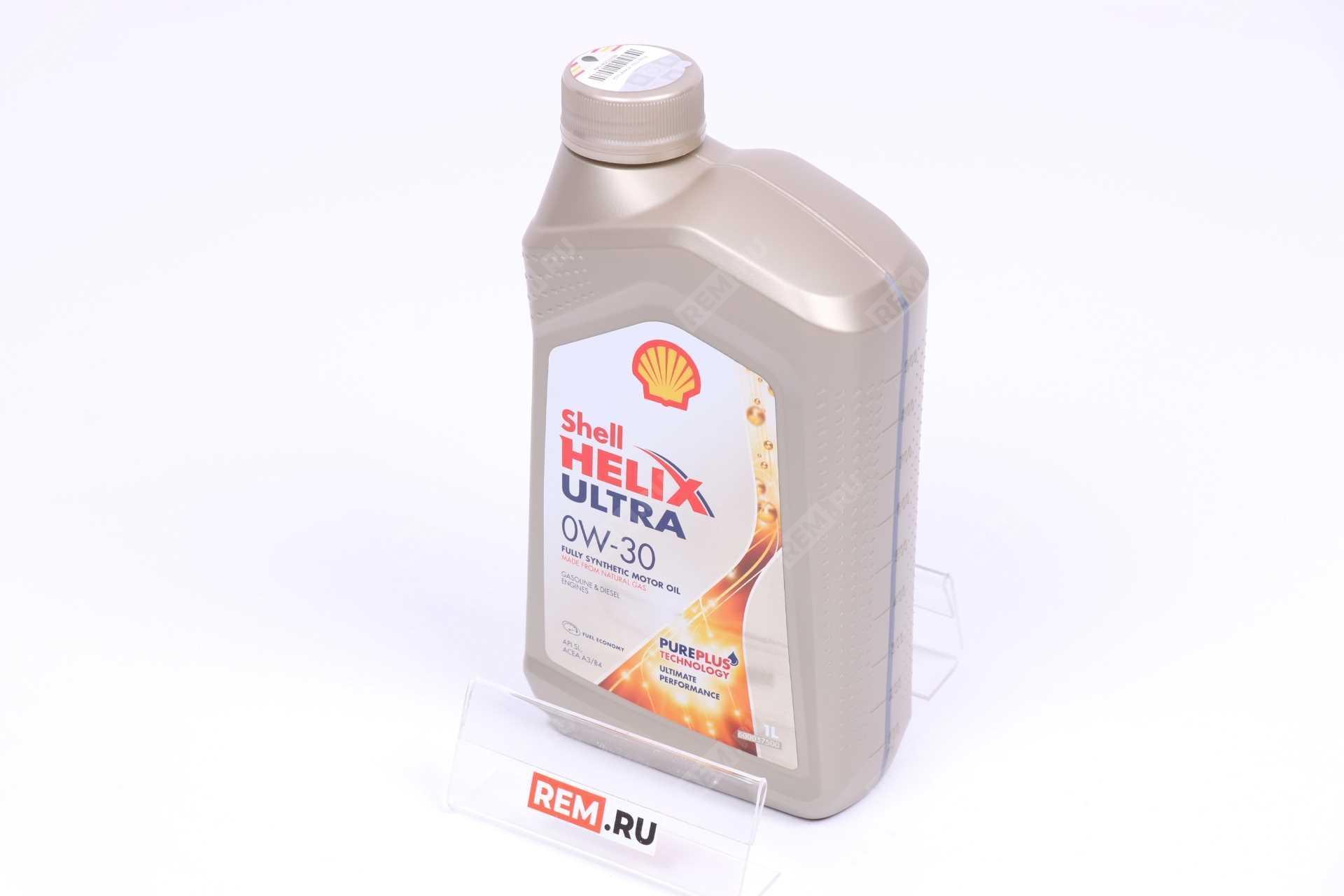 Фото Масло моторное Shell Helix Ultra 0W-30, 1Л 550046354