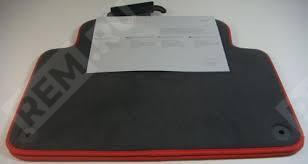 Ковры салона текстильные задние, с красной окантовкой 4L0061276PBMTL