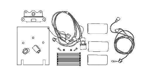 """4L0051700A  установочный комплект с держателем для одного dvd-плеера 7"""" (фото 1)"""