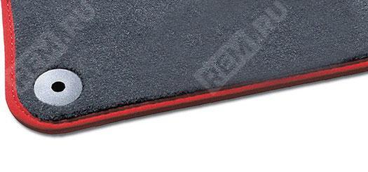 Ковры салона текстильные передние, темно-серые с красным кантом 8J1061275MTN