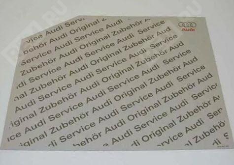 Коврик бумажный Audi 00A061225