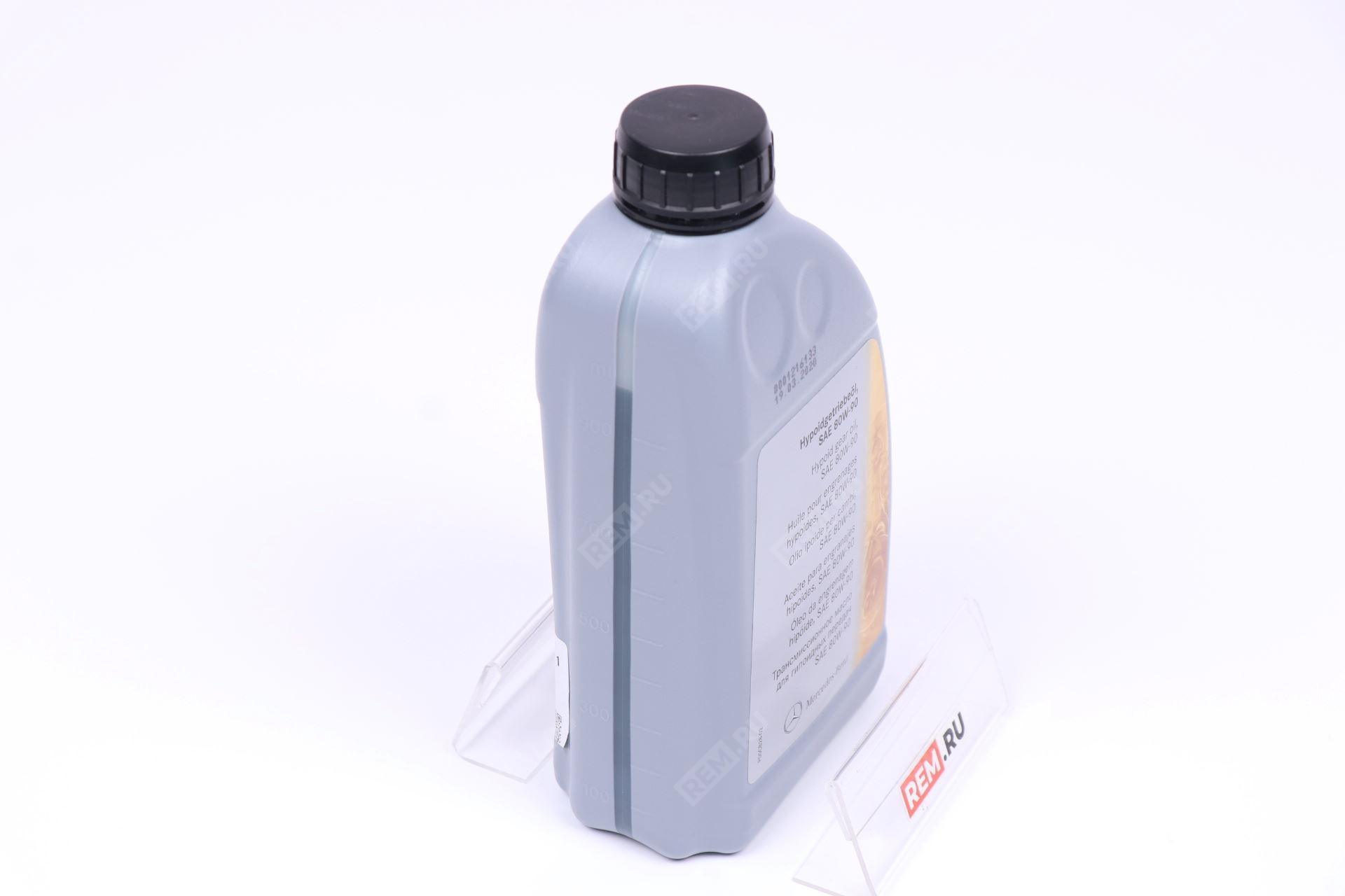 A001989580309  масло трансмиссионное mercedes 80w-90, 1л (фото 4)